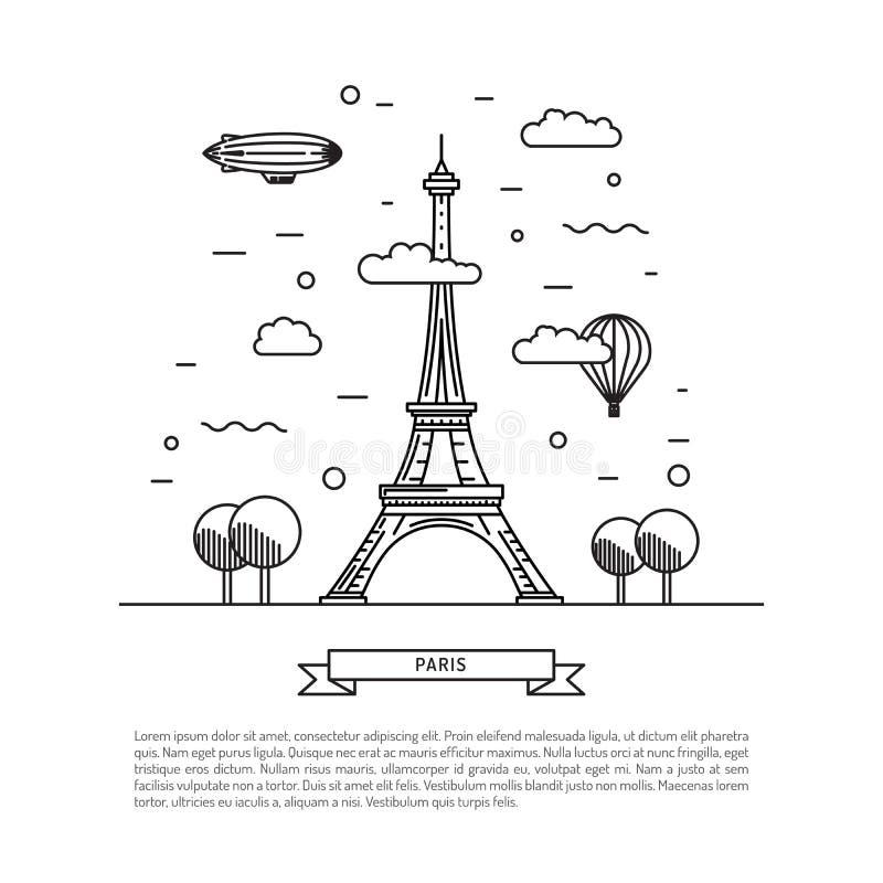 Señales arquitectónicas de París ilustración del vector