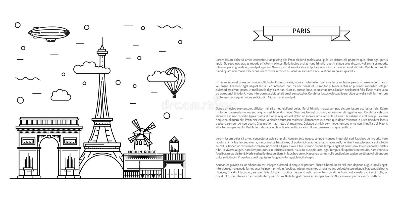 Señales arquitectónicas de París libre illustration