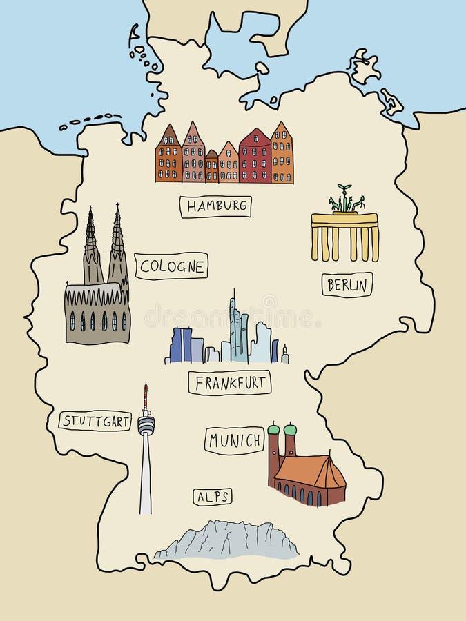 Señales de Alemania stock de ilustración