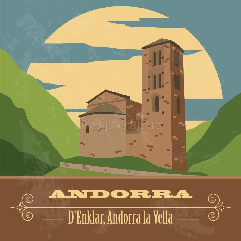 Señales de Andorra Imagen diseñada retra libre illustration