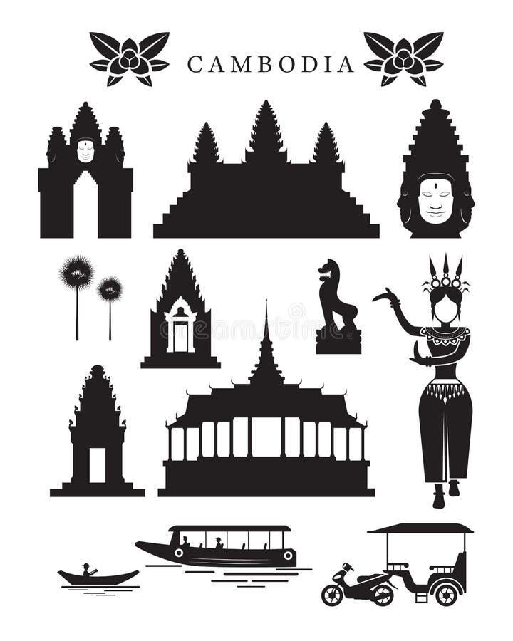 Señales de Camboya y sistema del objeto de la cultura libre illustration