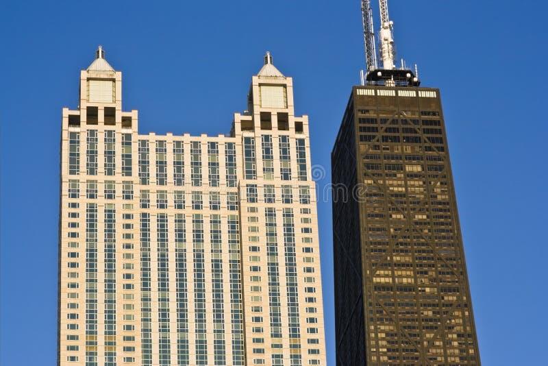 Señales de Chicago céntrica foto de archivo libre de regalías