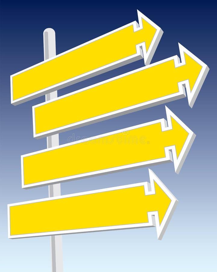 Señales de dirección stock de ilustración