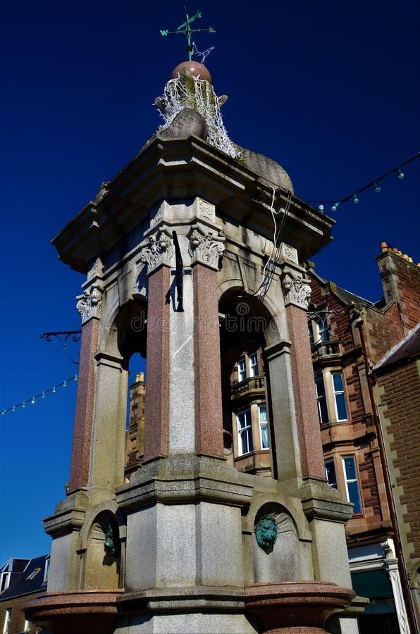 Señales de Escocia - la fuente de Crieff foto de archivo