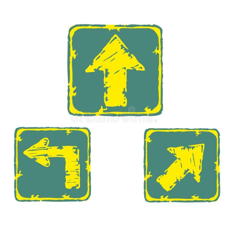 Señales de la flecha stock de ilustración