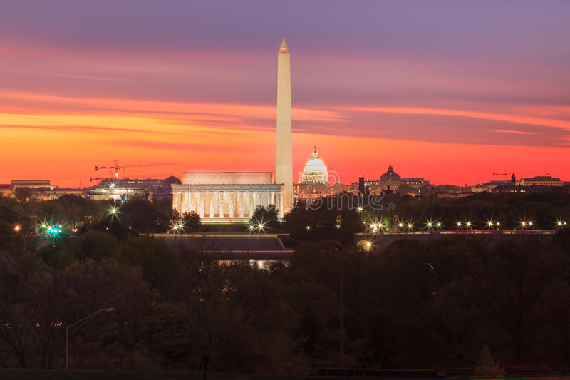 Señales de los monumentos del Washington DC foto de archivo libre de regalías