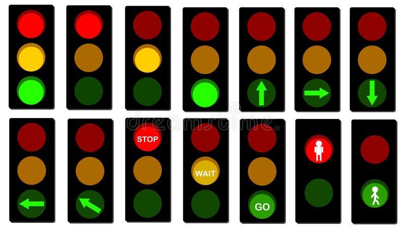 Señales de los semáforos stock de ilustración