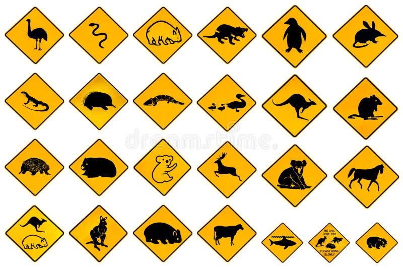 Señales de peligro del camino ilustración del vector