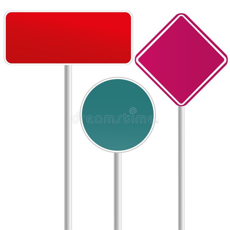 Señales de tráfico stock de ilustración