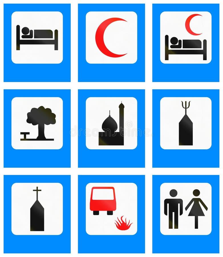 Señales de tráfico informativas en Bangladesh libre illustration