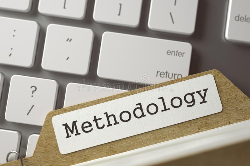 Señales del archivo de la metodología del índice de tarjeta 3d fotos de archivo