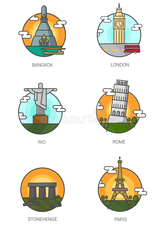 Señales del mundo stock de ilustración