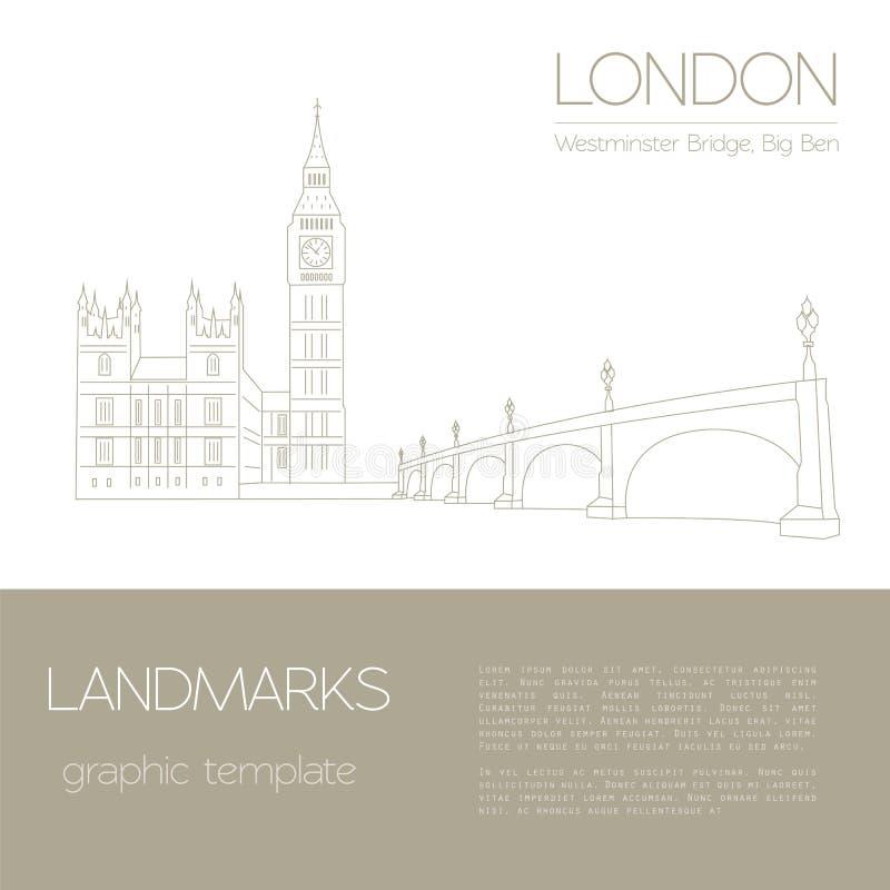 Señales del mundo Londres Reino Unido Abadía de Westminster, el B ilustración del vector