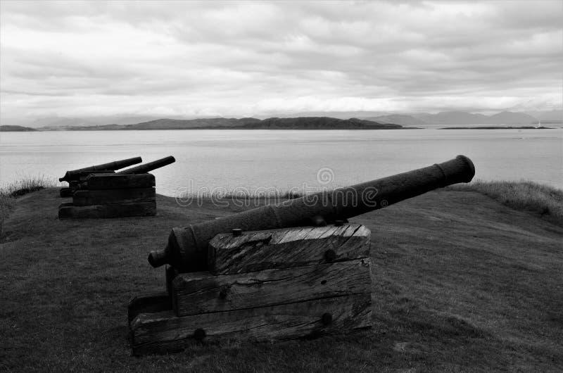 Señales escocesas - castillo de Duart fotos de archivo libres de regalías