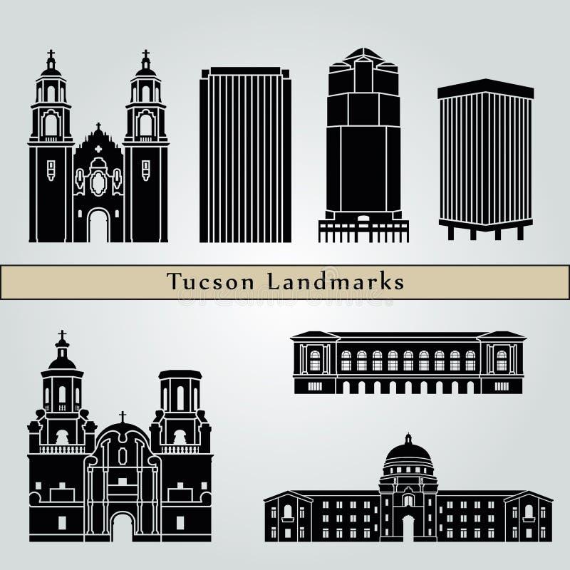 Señales y monumentos de Tucson ilustración del vector