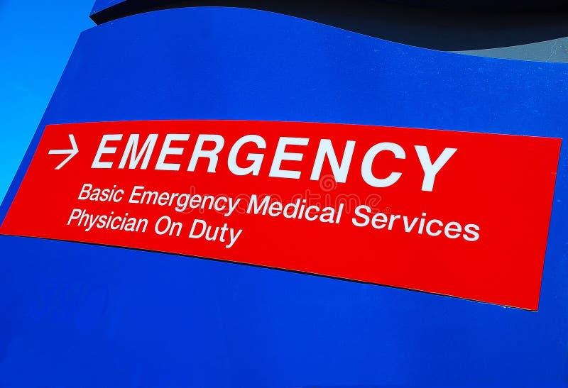 Señalización 2 del hospital de la emergencia foto de archivo