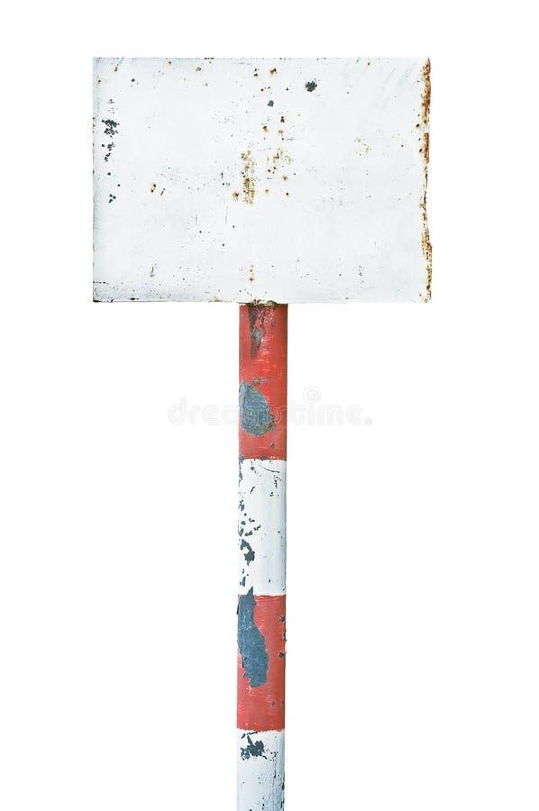Señalización aherrumbrada oxidada de la tarjeta de la muestra del metal envejecida fotografía de archivo libre de regalías