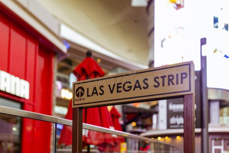 Señalización de la tira de Las Vegas imagen de archivo