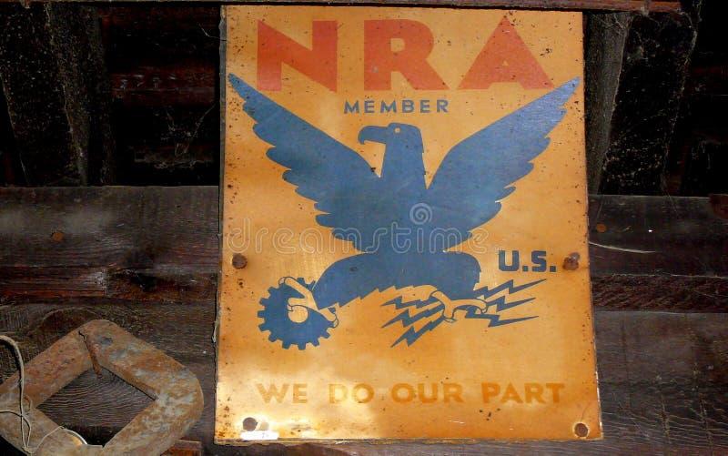 Señalización del NRA de Matthew Edel Blacksmith Shop fotografía de archivo