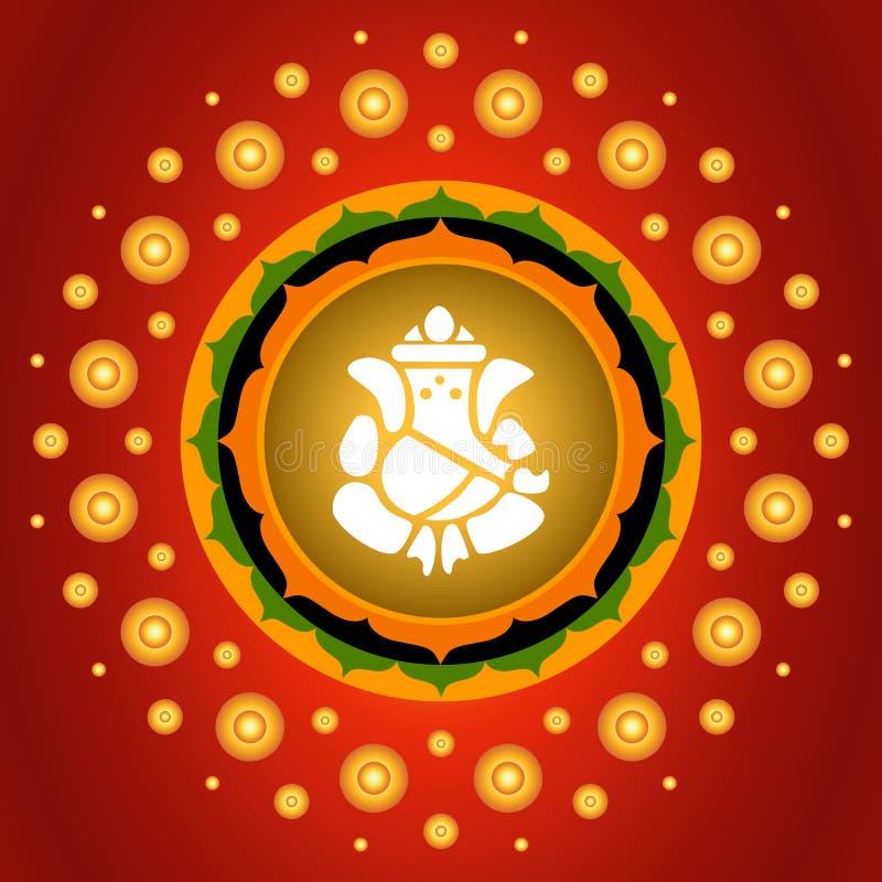 Señor Ganesha ilustración del vector