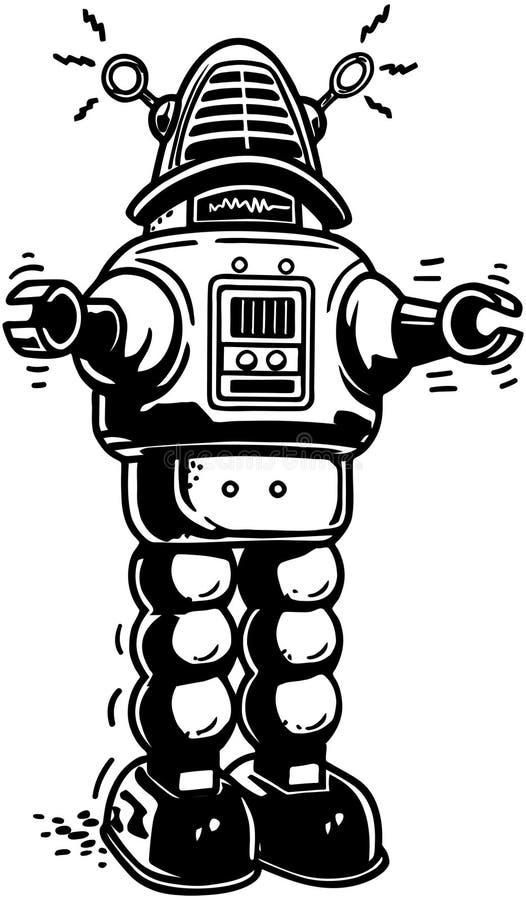 Señor Robot ilustración del vector