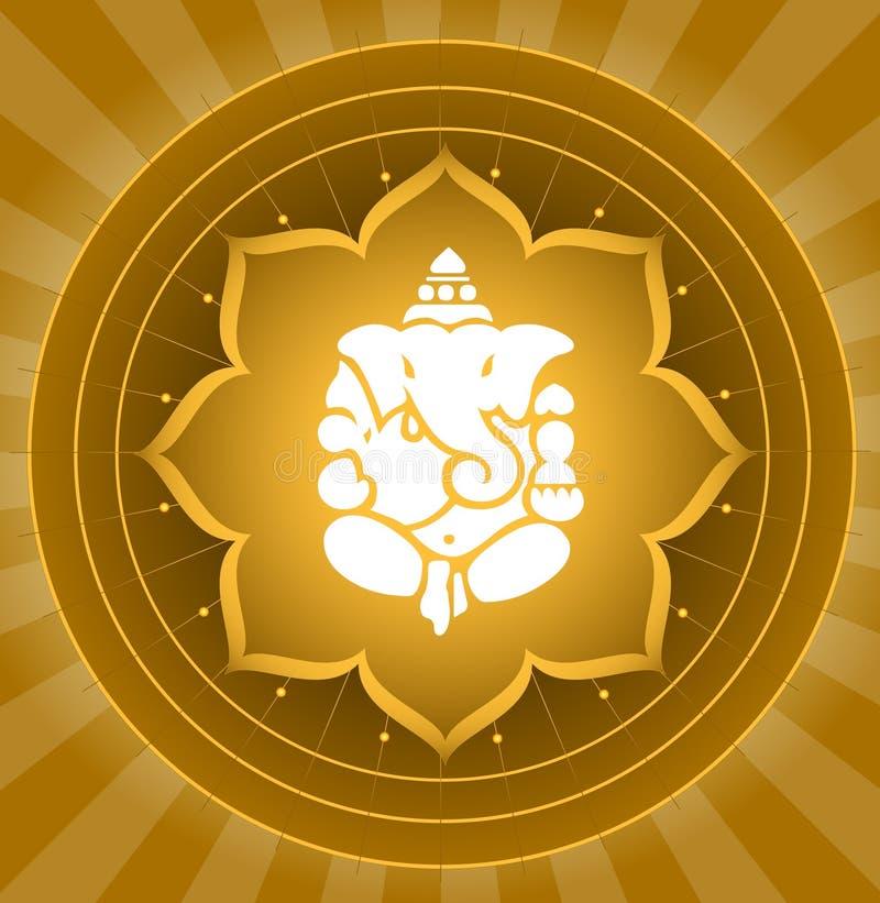 Señor Shree Ganesha stock de ilustración