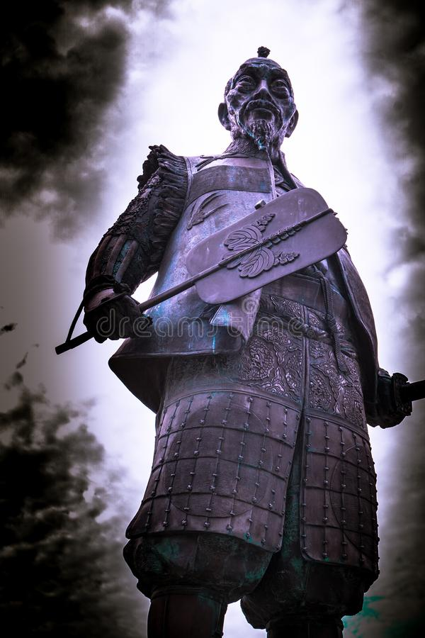 Señor y guarda del castillo de Osaka imagen de archivo