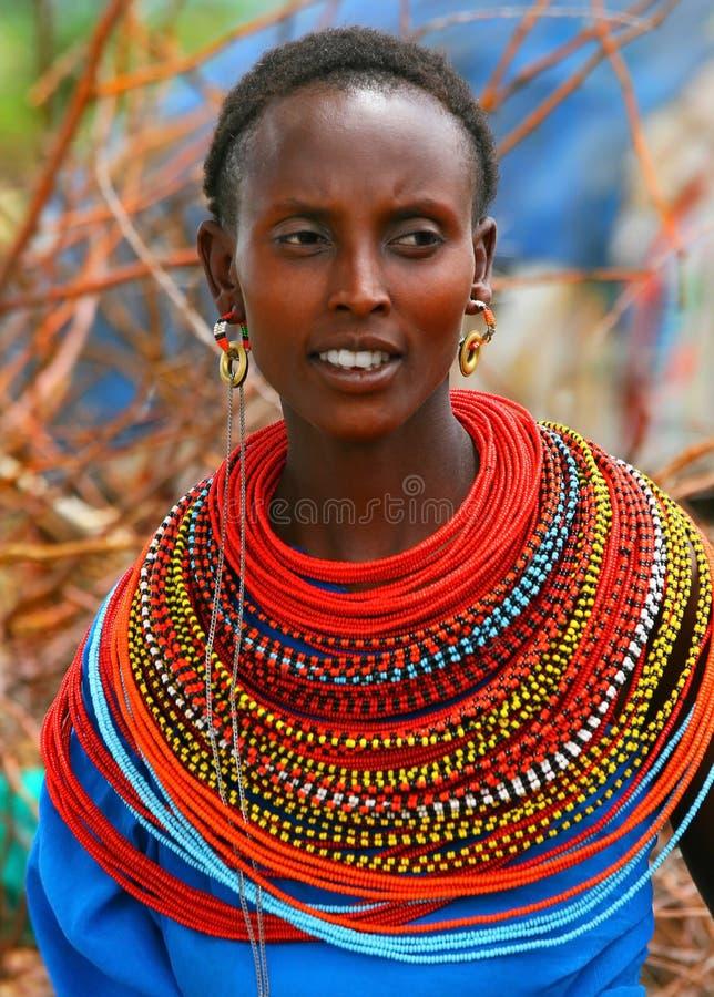 Señora africana hermosa imagen de archivo