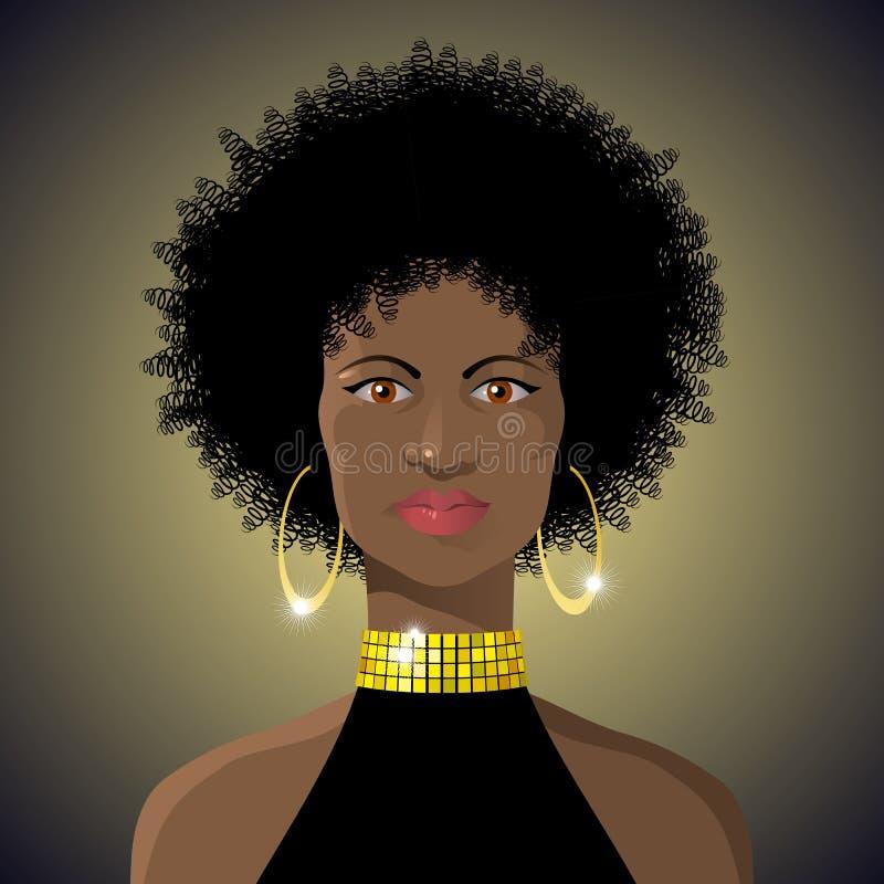 Señora africana hermosa ilustración del vector