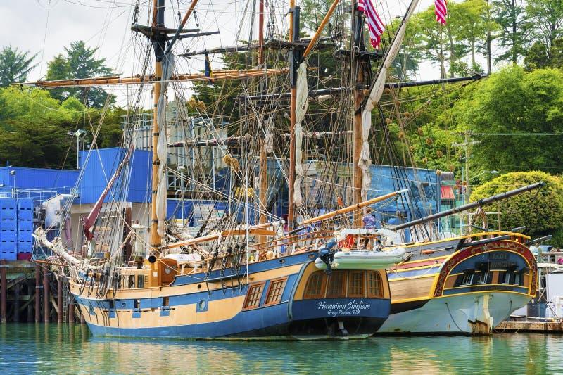 Señora alta Washington y cacique hawaiano de las naves foto de archivo libre de regalías