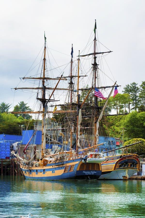 Señora alta Washington y cacique hawaiano de las naves fotos de archivo libres de regalías