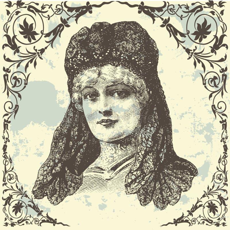 Señora antigua libre illustration