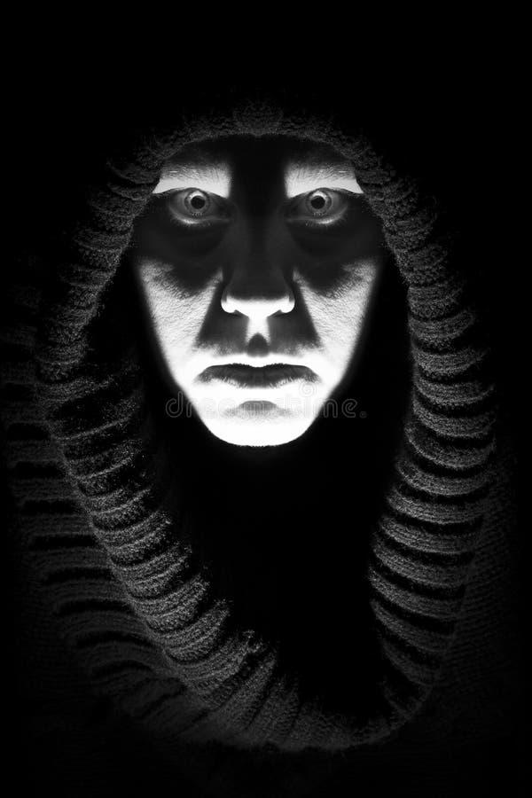 Señora asustadiza del horror imagen de archivo
