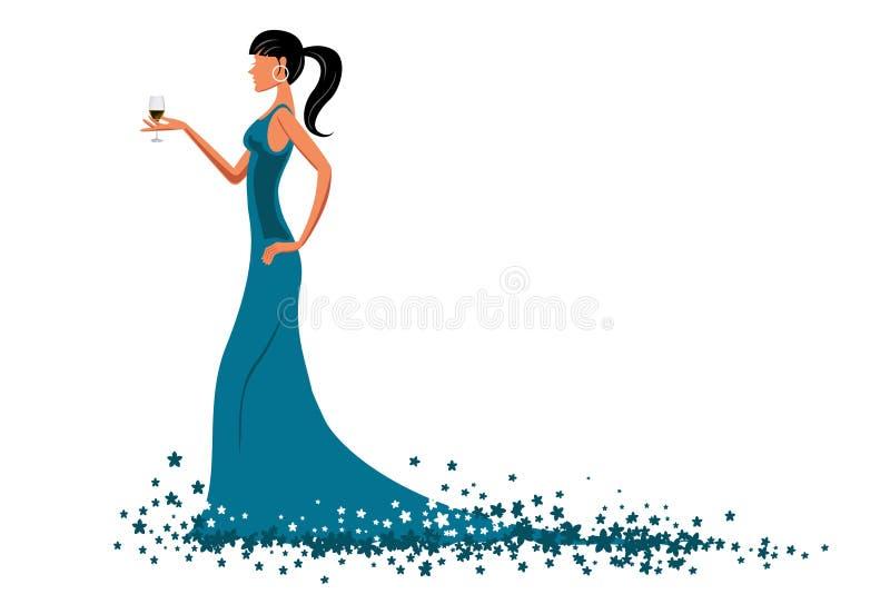 Señora atractiva ilustración del vector