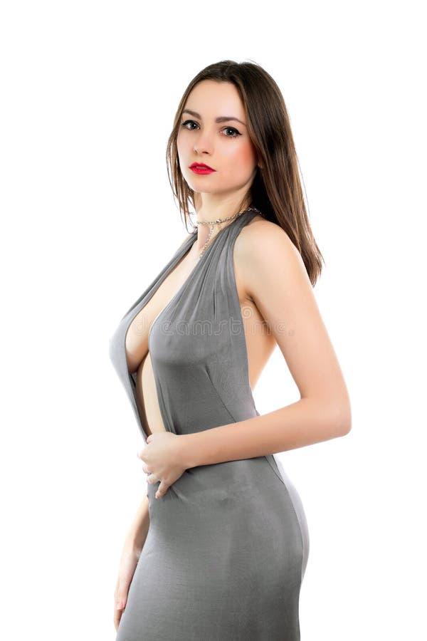 Señora atractiva joven foto de archivo