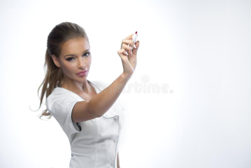Señora bonita doctor fotografía de archivo libre de regalías