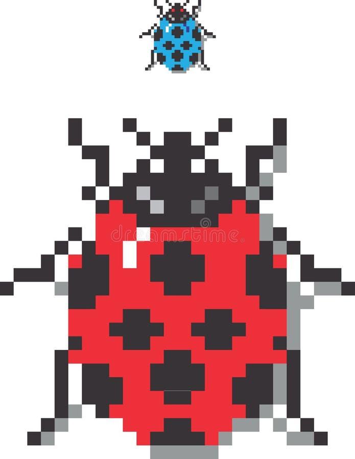 Señora Bug del pixel stock de ilustración