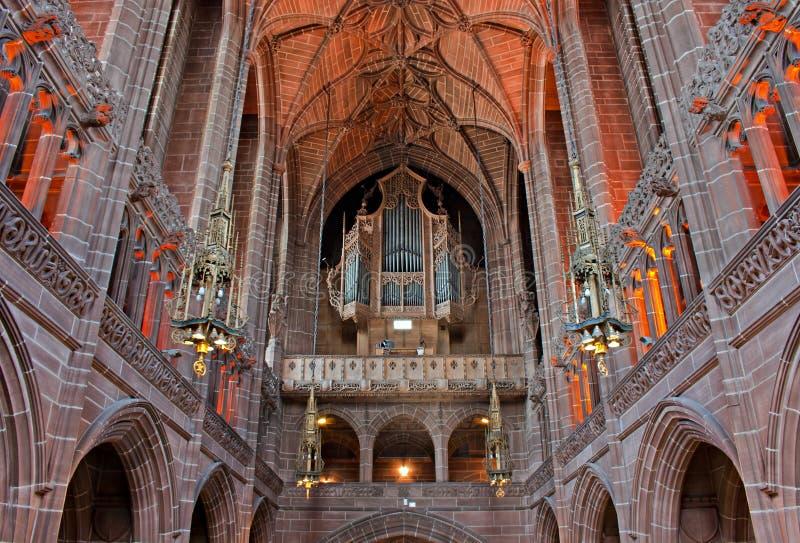 Señora capilla dentro de la catedral de Liverpool foto de archivo