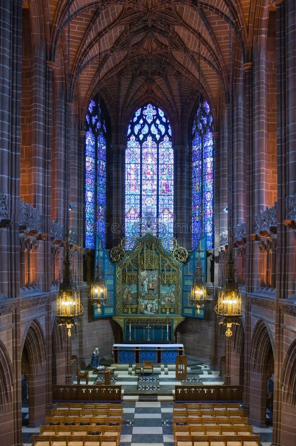 Señora capilla dentro de Liverpool C fotografía de archivo