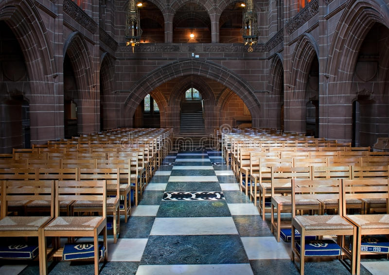 Señora capilla interior, catedral de Liverpool. fotografía de archivo libre de regalías