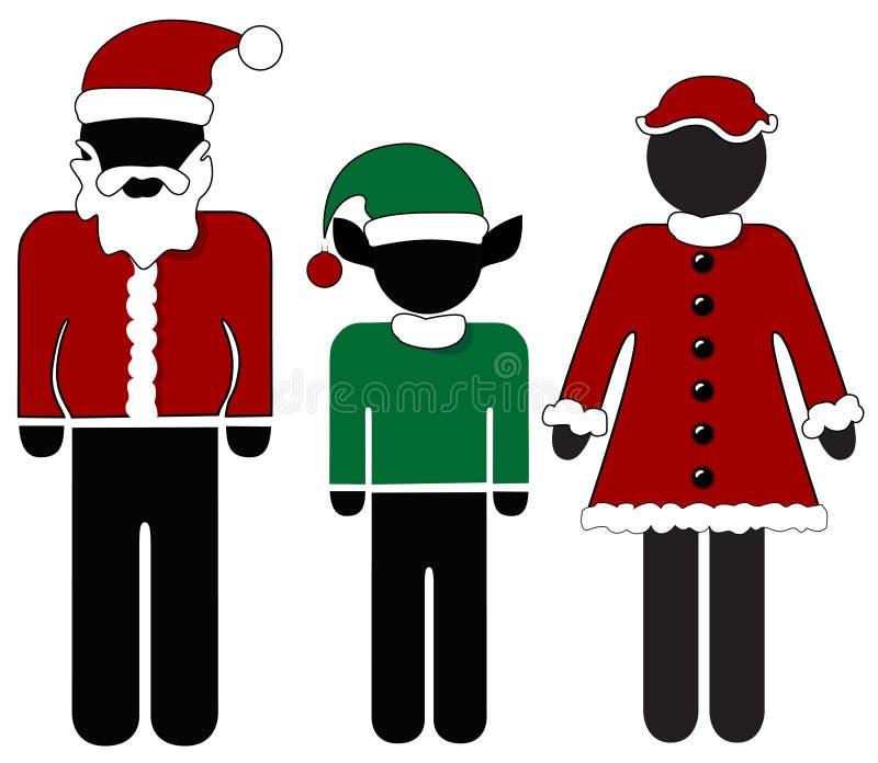 Señora Claus Elf de Santa de la Navidad stock de ilustración