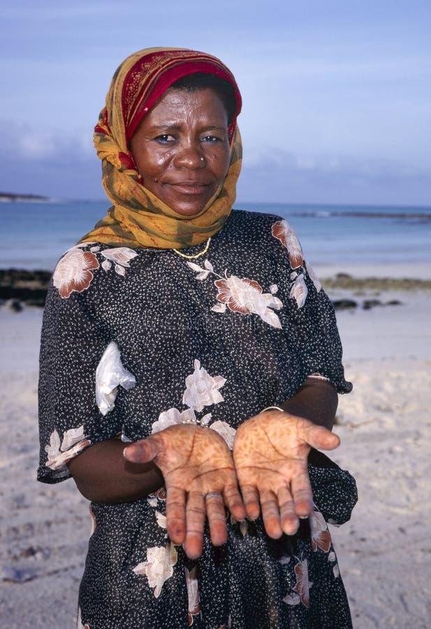 Señora con alheña fotos de archivo