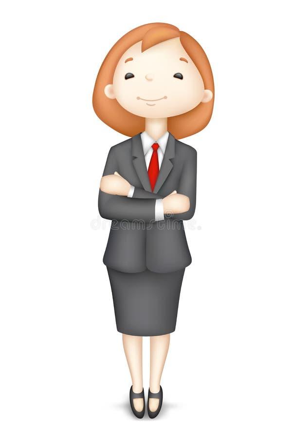 Señora confidente del asunto 3d en vector ilustración del vector