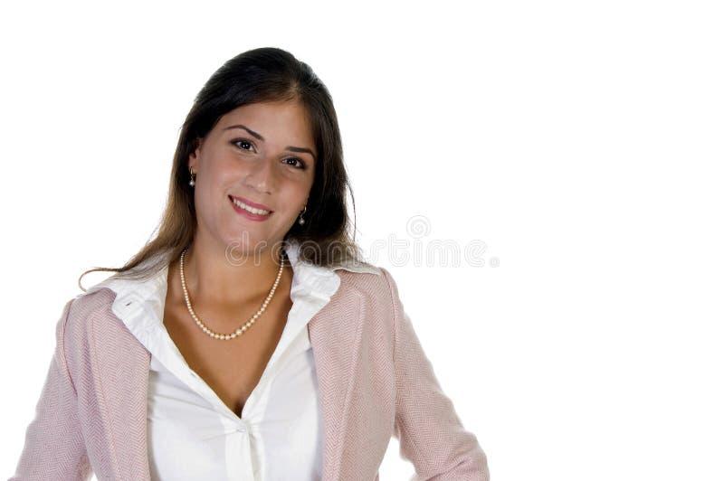 Señora corporativa sonriente fotografía de archivo