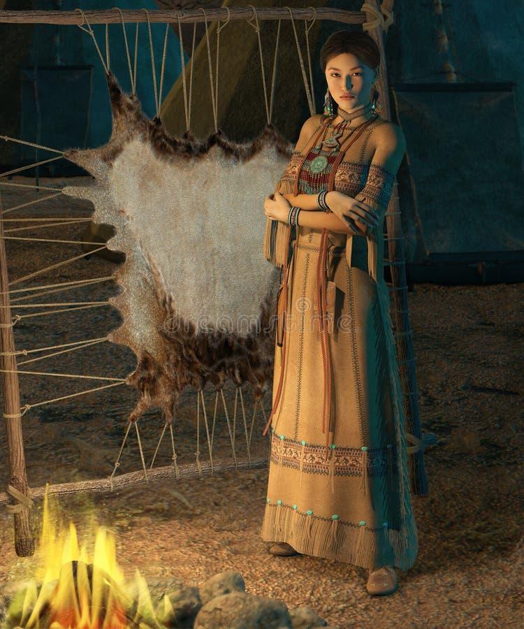 Señora de Cheyenne stock de ilustración