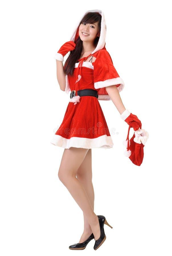 Señora de la feliz Navidad fotos de archivo libres de regalías