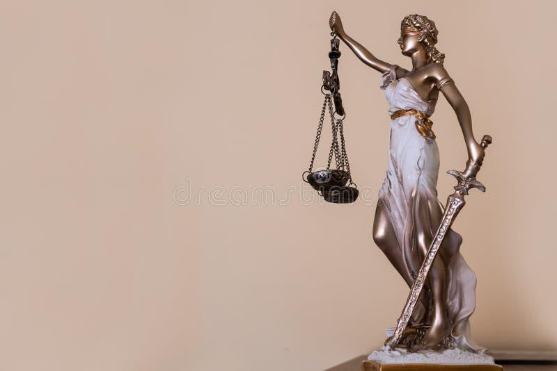 Señora de la justicia Tema de la ley imagen de archivo