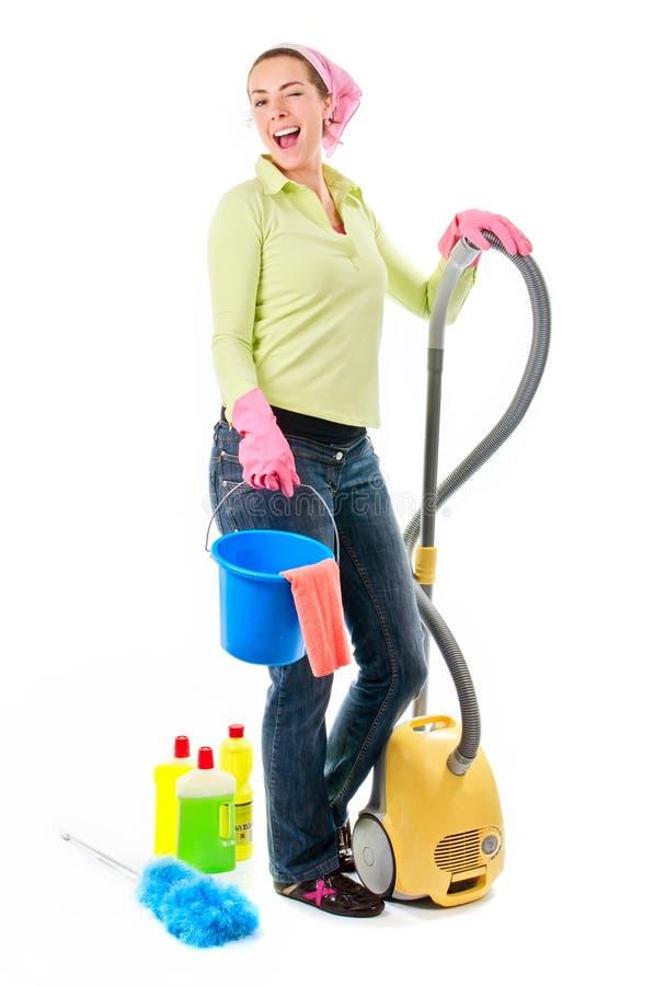 Señora de la limpieza foto de archivo