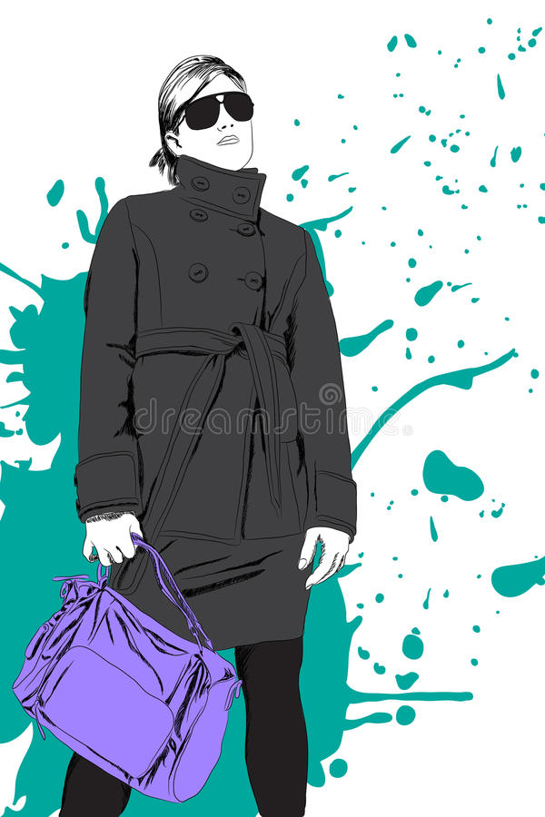 Señora de la manera libre illustration