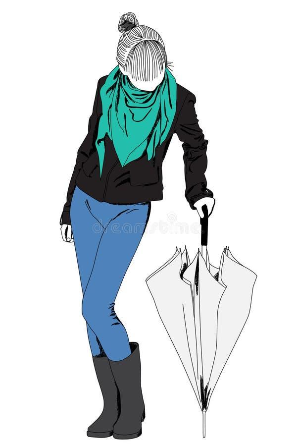 Señora de la manera stock de ilustración